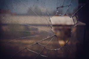 glass, disc, broken
